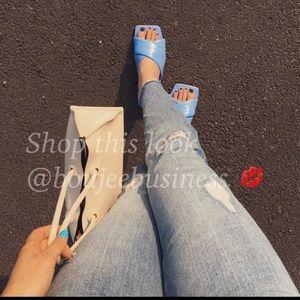 ZARA Padded Leather Flat Sandals